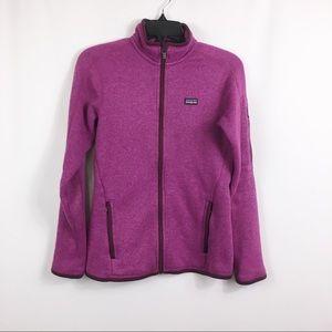Patagonia pink better sweater fleece zip up jacket